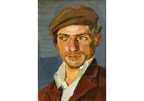The Mechanic, Oil on Canvas, 50 x 38 cm
