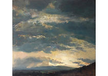 Sky in Sona village, Oil on canvas, 110 x 120 cm