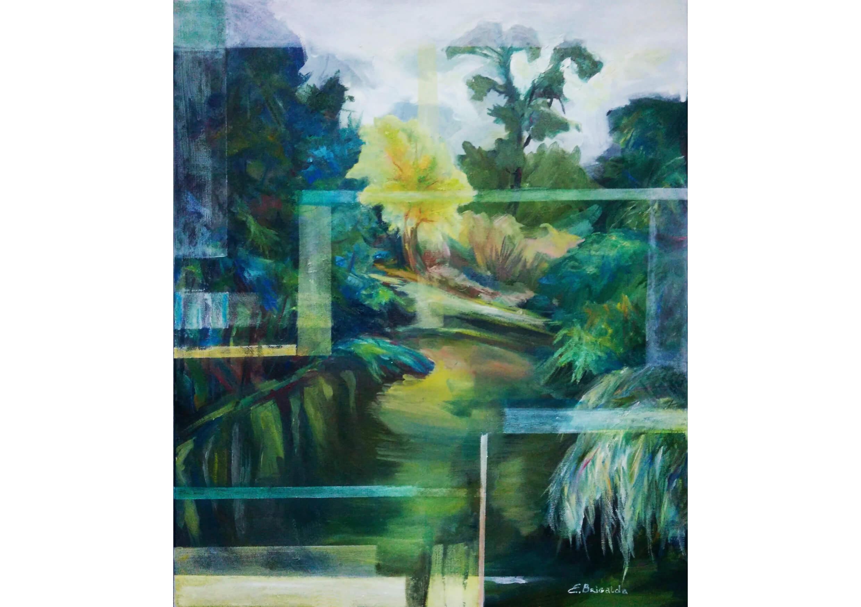 Virtual Landscape, Oil on canvas, 60 x 50 cm