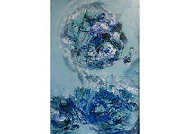 Fish Planet, Oil on carton, 70 x 50 cm