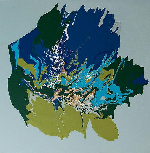 Peace - Natalija Miladinovic -80x80 -Oil on canvas