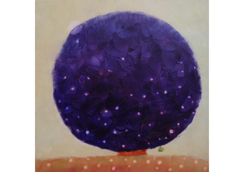 Mystic Tree, Oil on canvas, 80 x 80 cm
