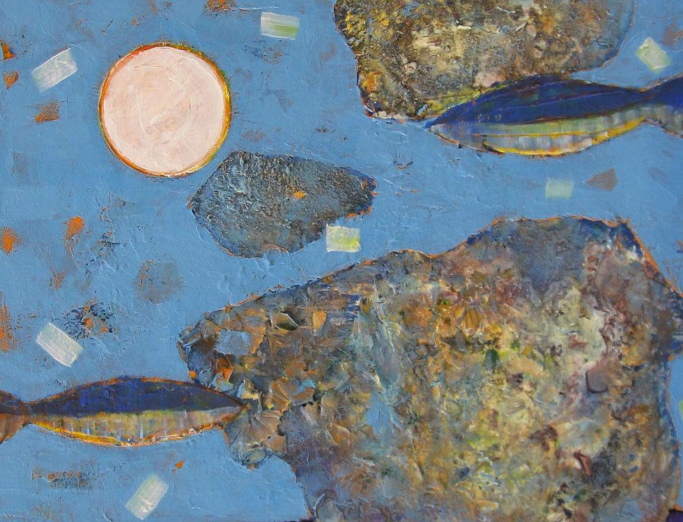 Series White Moon III by Krassimir Savov