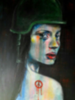 Soldier - Ahlam Ali - Oil on canvas