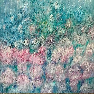 Bundle love 80x80cm, oil on canvas