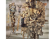 Weathervanes, Mixed media on cardboard, 90 x 100 cm