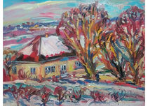 Winter in Cikur Minjir, Oil on canvas, 80 x 100 cm