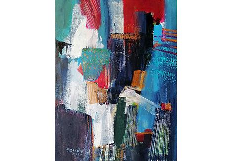 Life sparkles 3, acrylic on canvas,  2019, 60 x 40cm