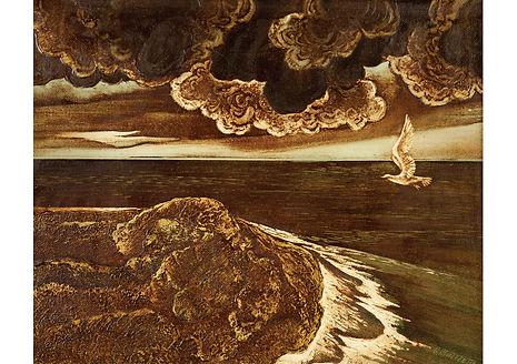 Marine daredevil, Oil and lacquer on canvas, 40 x 50 cm