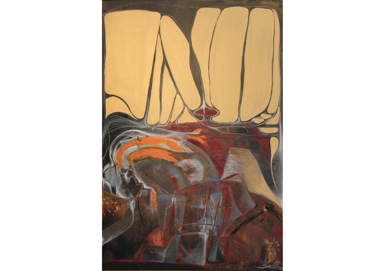 Magmatic Power, Acrylic on canvas, 140 x 100 cm