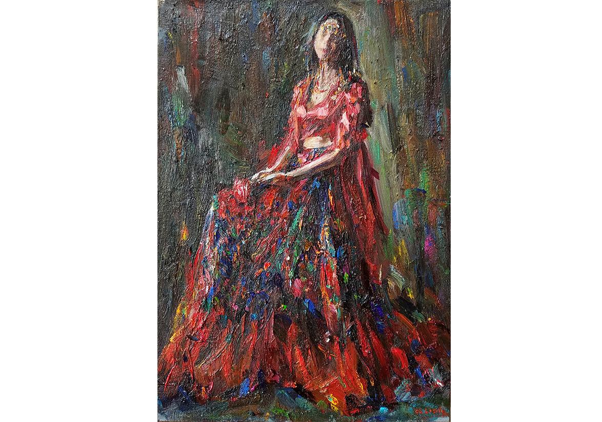 Mirage, 50×38cm, 2019, oil on canvas, 1200€