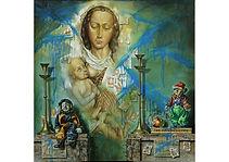 Alphabet for 60 year old children, Oil on canvas, 100 x 100 cm