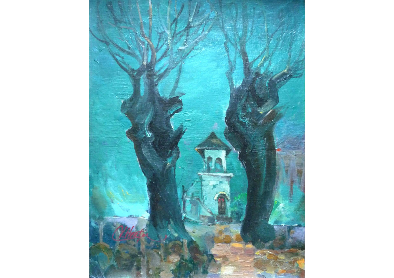 Black Trees, Oil on canvas, 40 x 32 cm