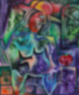 Alexandra Nechita - Oil on canvas