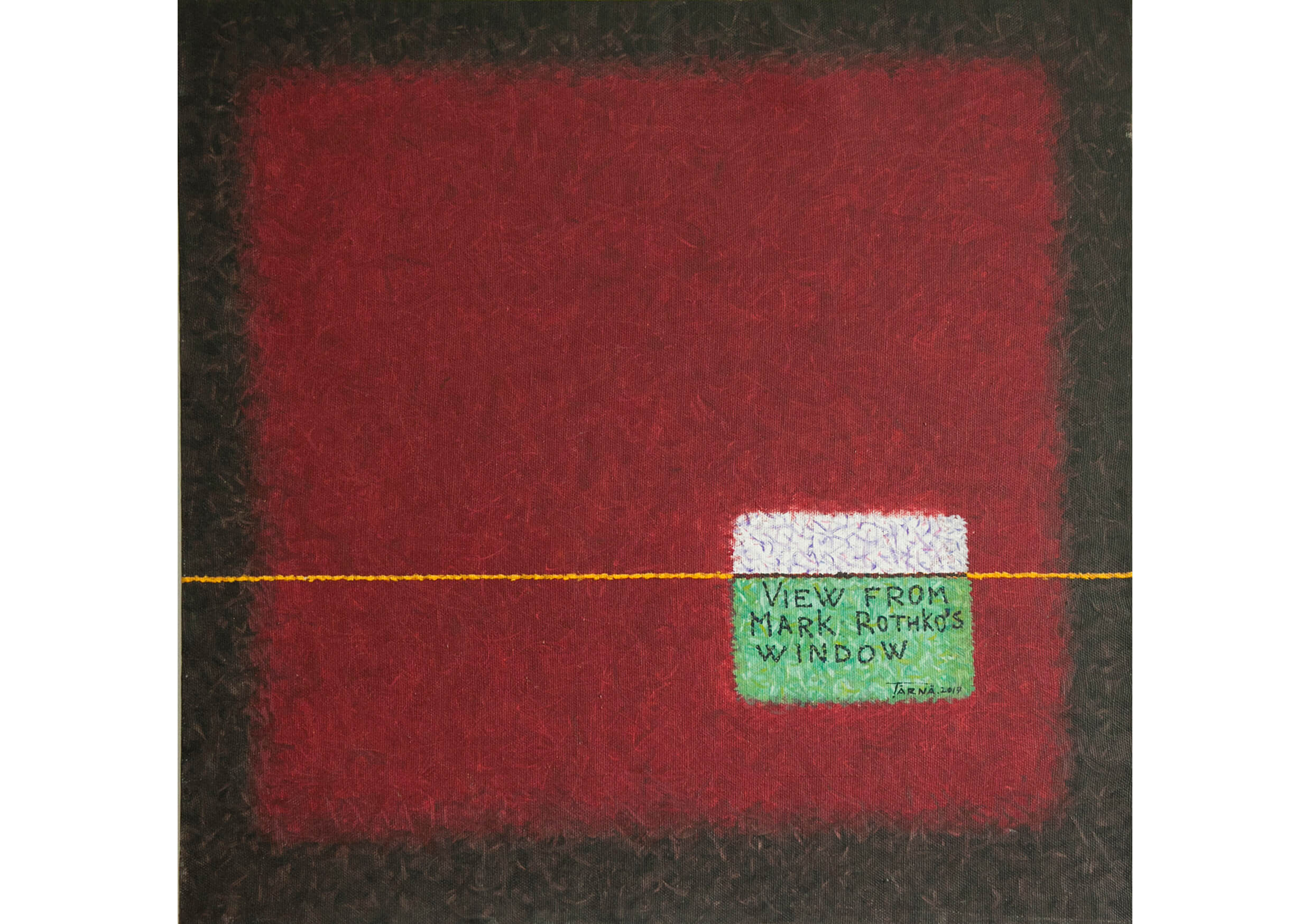 View from Mark Rothko's window, Oil on canvas, 95 x 95 cm
