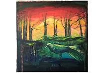Basic paradise, acrylic in canvas, 80x80cm