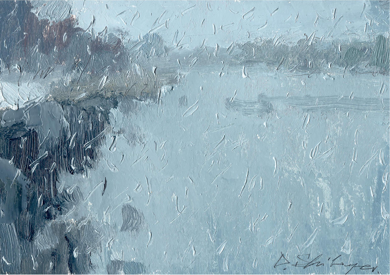 Good Morning, Oil on cardboard, 15 x 22 cm