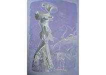 Greek Motive, Acrylic on canvas, 90 x 65 cm