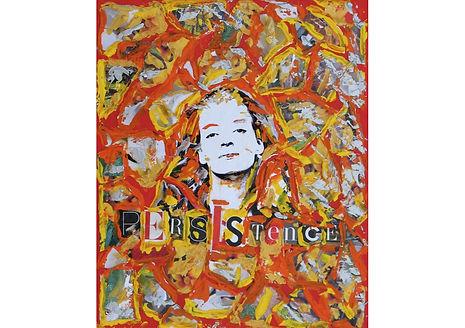Persistance - Uma Thurman, Acrylic on cardboard, 30.5 x 25.5 cm