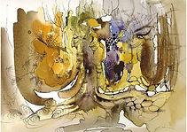 Autumn motive, Mixed media on paper, 26 x 36 cm