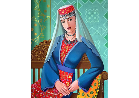 Armenian Lady 2016, Acrylic on Canvas  60cm x 76cm