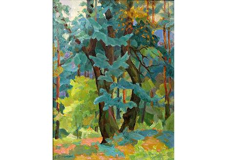 Falling Tree, Oil on Canvas, 50 x 40 cm
