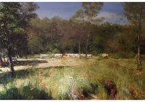 Landscape in France, Oil on canvas, 89 x 130 cm