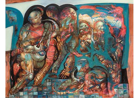 Jazz, Mixed media on canvas, 70 x 90 cm
