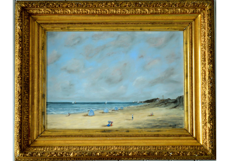 Normandie, Oil on canvas, 46 x 55 cm