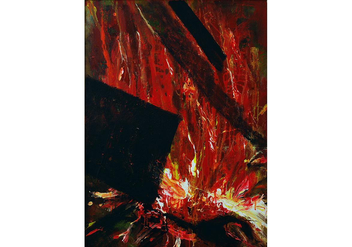 Alchemy I, mixed media on canvas, 80x60