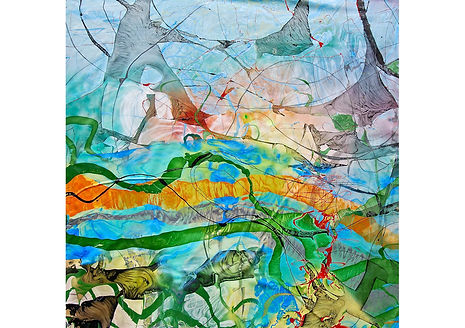 SCIFI I, Alkyd on canvas, 150 x 150 cm