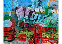 SCIFI II, Alkyd on canvas, 120 x 170 cm