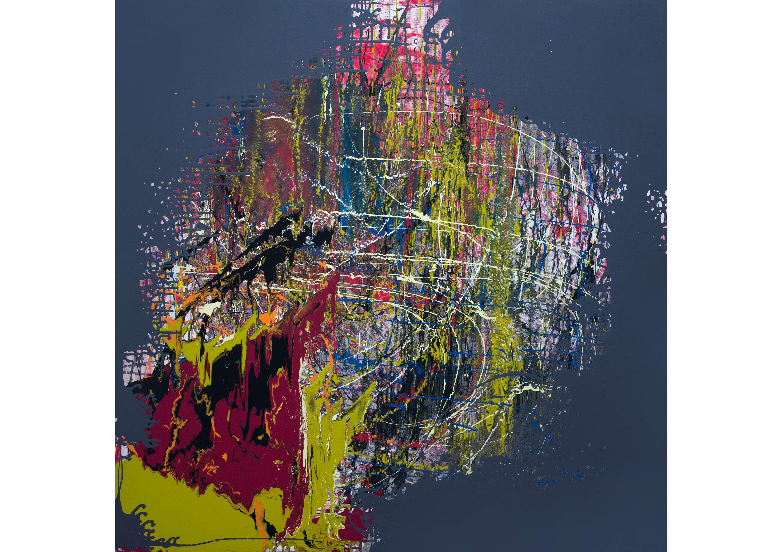 Formation 2, Acrylic on canvas, 120 x 120 cm