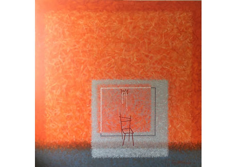 Thinking of Mark Rothko; oil on canvas, 140x140cm; 2018