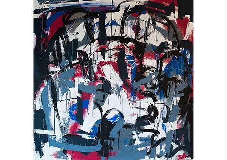Rain, Acrylic on canvas, 200 x 200 cm