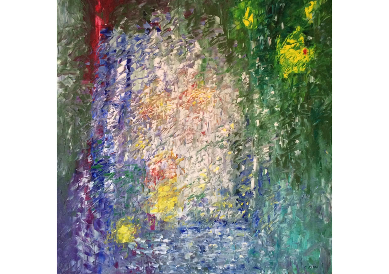 Petals, Oil on canvas, 80 x 80 cm