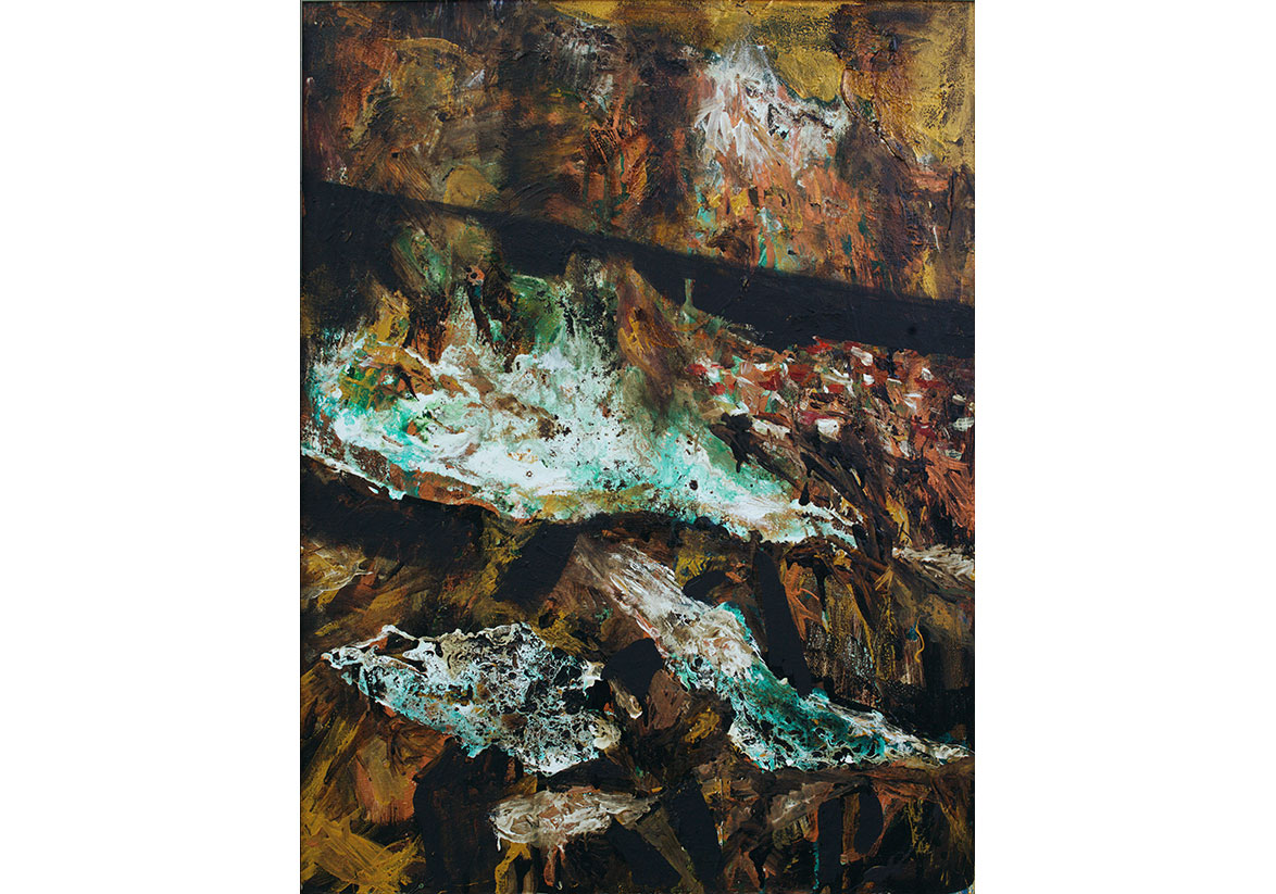 Alchemy III. 2019, mixed media on canvas, 80x60 cm