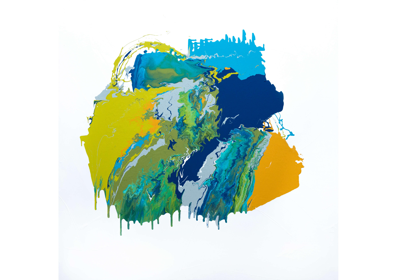 Landscape, Acrylic on canvas, 120 x 120 cm