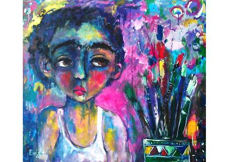 The Little Painter, Oil on canvas, 60 x 80 cm