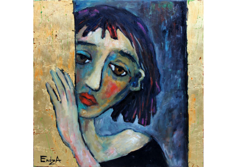The Artist, Oil on canvas, 60 x 60 cm