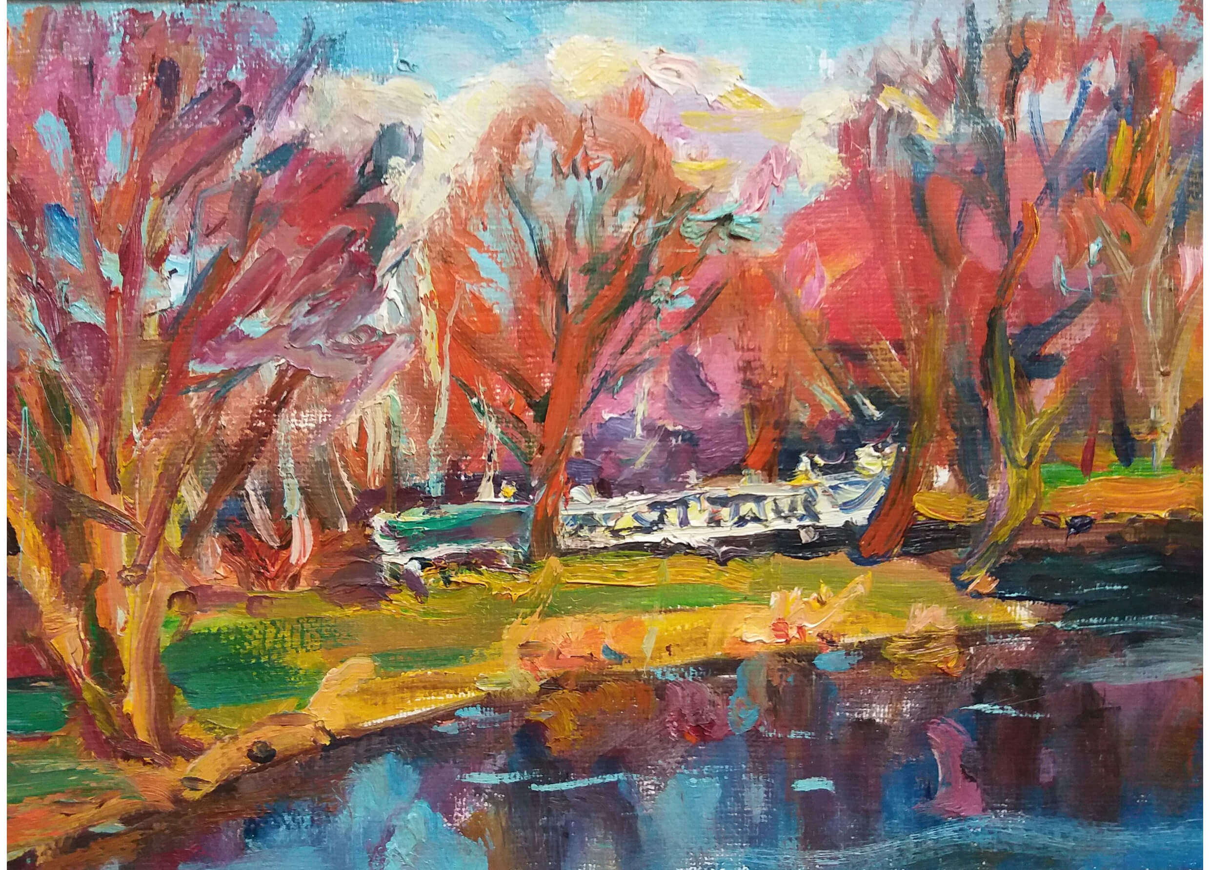 Botanical Gardens Chisinau, Oil on canvas, 60 x 80 cm