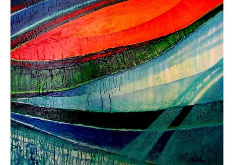 Fleeting moment, Mixed media on canvas, 70 x 100 cm