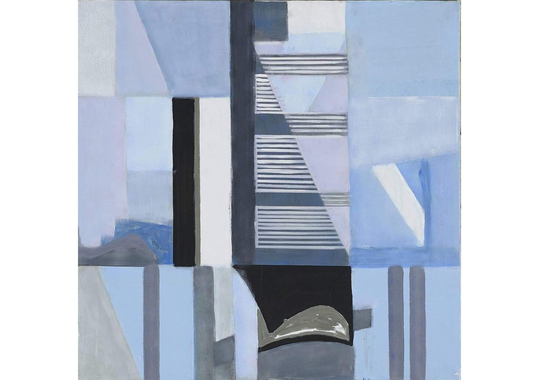 City on the Sea, Acrylic on canvas, 100 x 100 cm