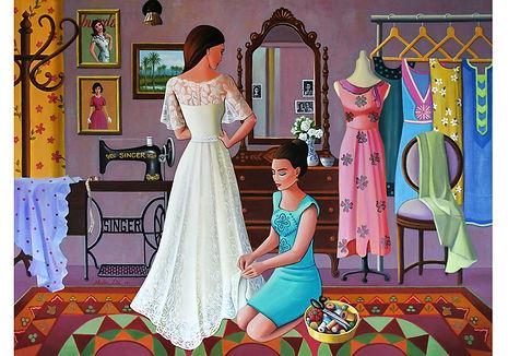 Wedding dress 2017, Acrylic on Canvas 120cm x 90cm