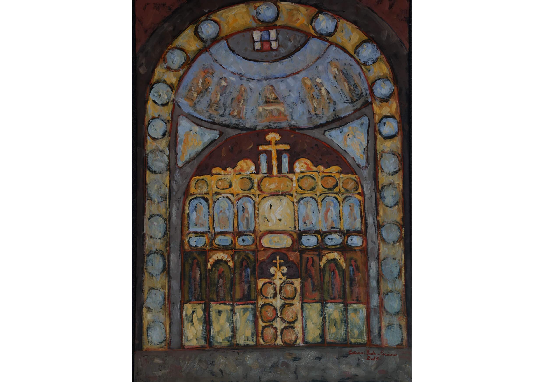Inside the Church, Oil on canvas, 70 x 50 cm