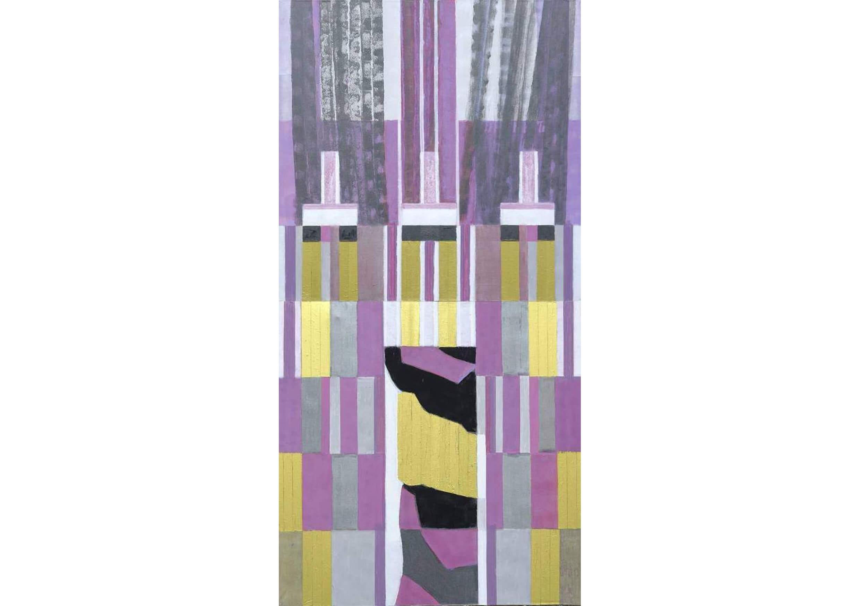 Column I, Acrylic on canvas, 94 x 200 cm