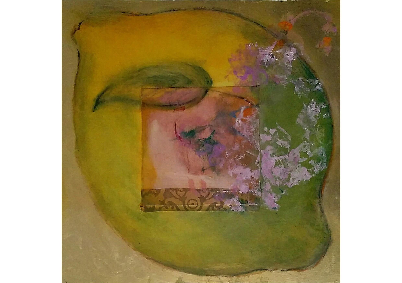 Lemon iii, Mixed media on canvas, 50 x 50 cm