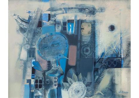 Blue Birds Nest, Oil on Canvas, 80 x 100 cm