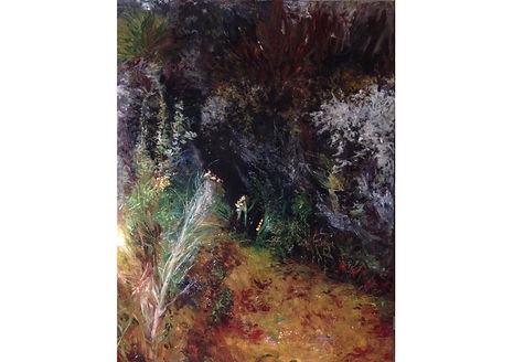 Garden, Oil on canvas, 116 x 90 cm