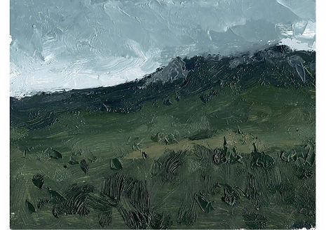 Spring Cloud, Oil on cardboard, 15.5 x 21.5 cm